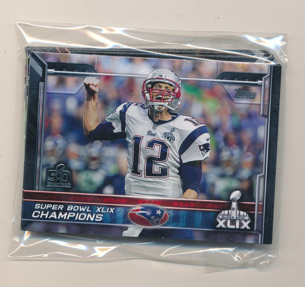 2015 Super Bowl 50 Stamp New England Patriots Team set