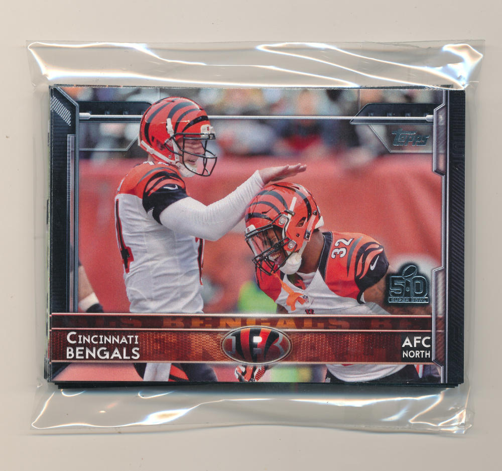 2015 Super Bowl 50 Stamp Cincinnati Bengals Team set