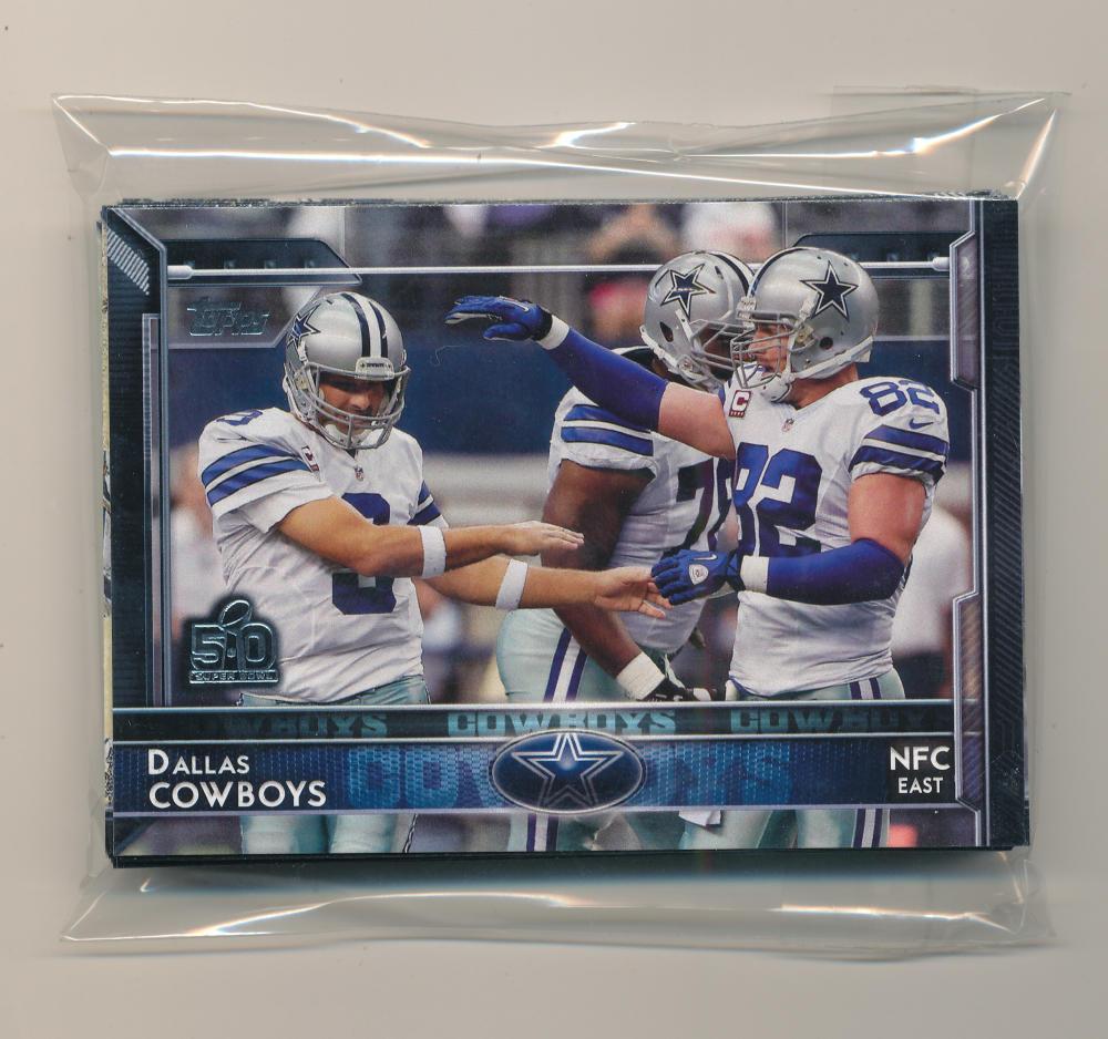2015 Super Bowl 50 Stamp Dallas Cowboys Team Set