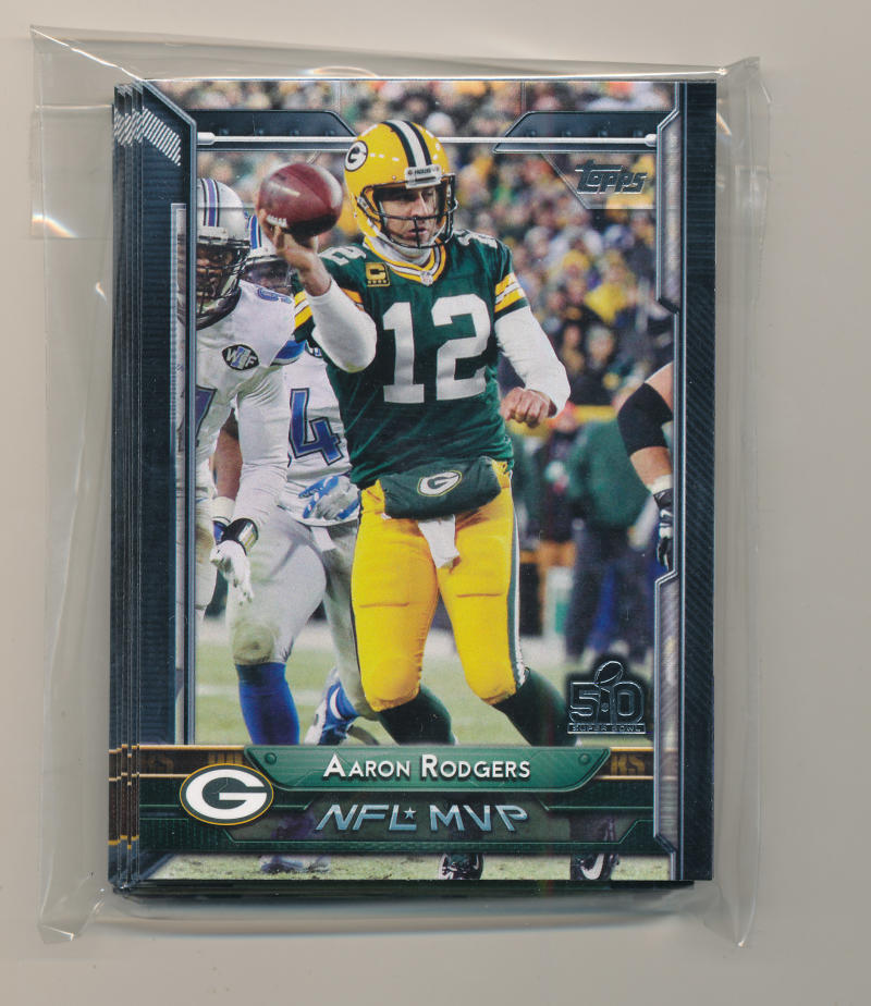2015 Super Bowl 50 Stamp Green Bay Packers Team Set