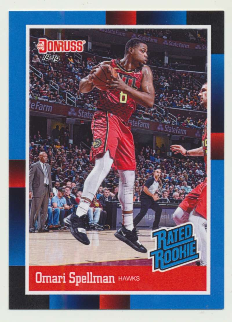 2018-19 Panini Instant NBA 1988 Rated Rookie Retro #RR28 Omari Spellman RC Rookie Atlanta Hawks