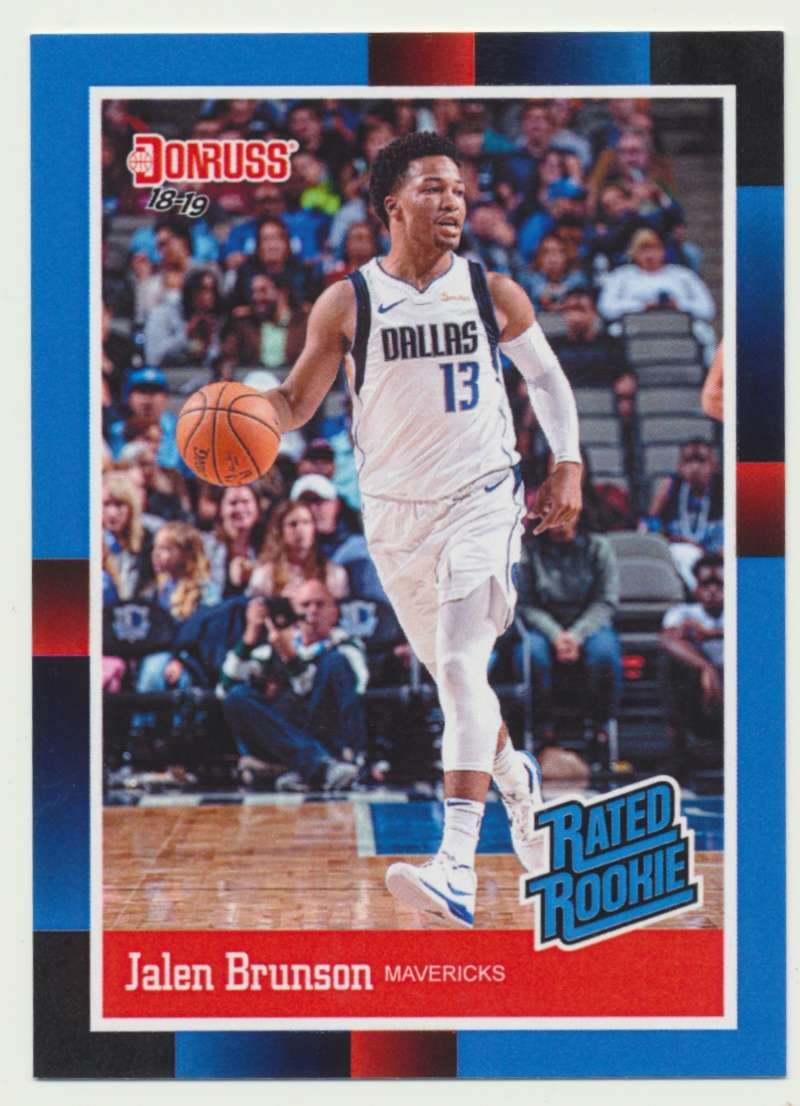 2018-19 Panini Instant NBA 1988 Rated Rookie Retro #RR31 Jalen Brunson RC Rookie Dallas Mavericks