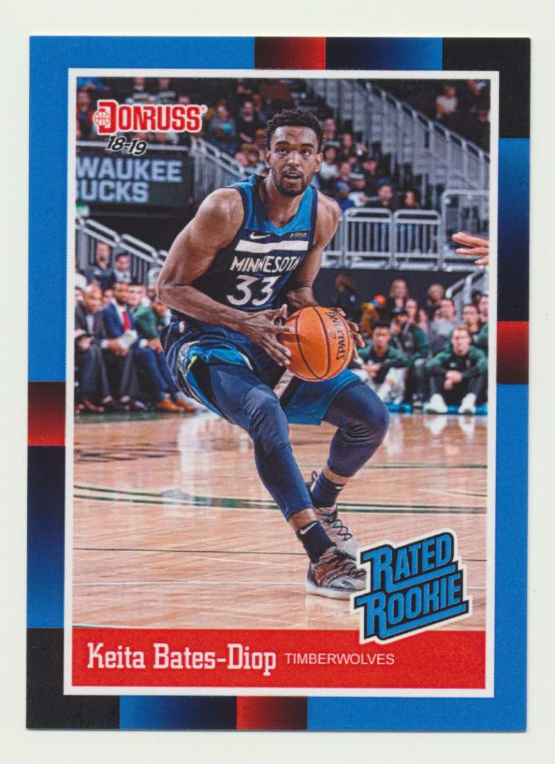 2018-19 Panini Instant NBA 1988 Rated Rookie Retro #RR35 Keita Bates-Diop RC Rookie Minnesota Timberwolves