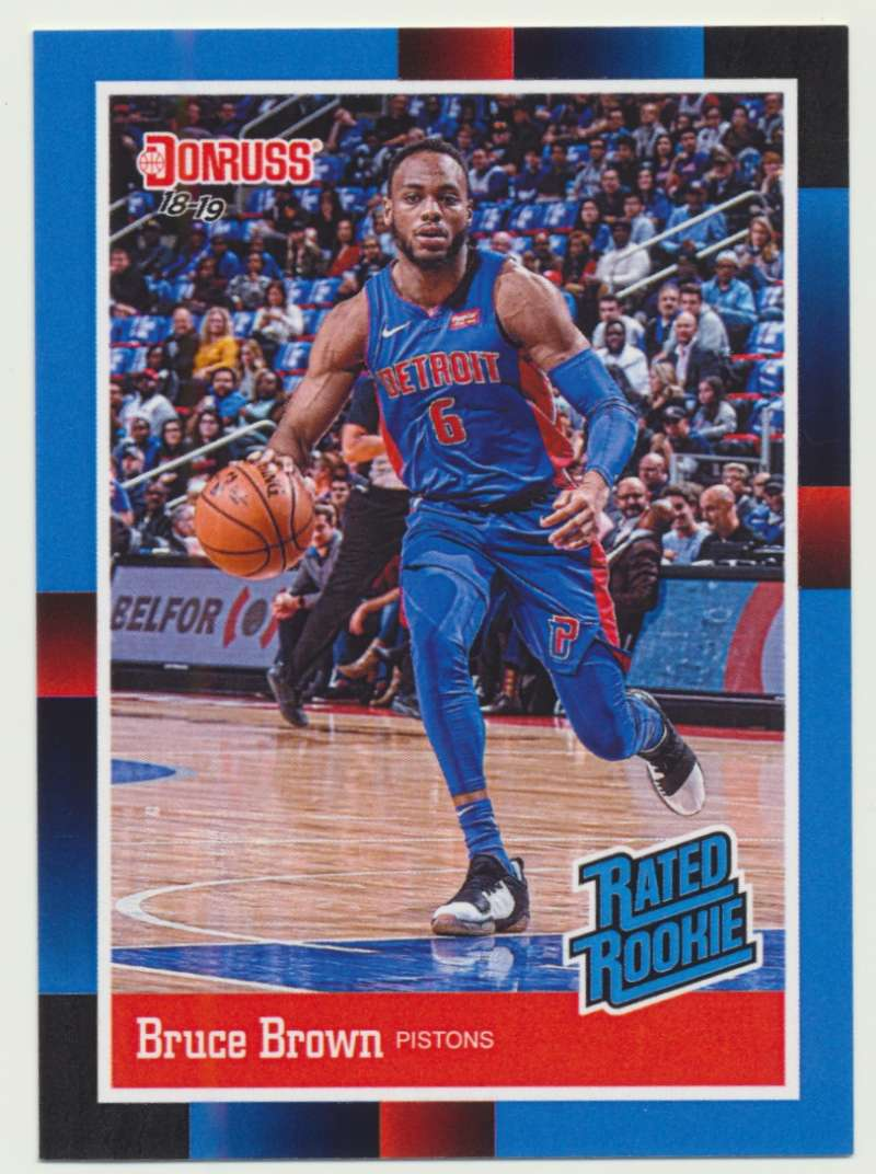 2018-19 Panini Instant NBA 1988 Rated Rookie Retro #RR36 Bruce Brown RC Rookie Detroit Pistons