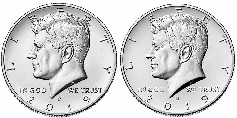 2019 P & D Kennedy Half Dollar Set 2 Coin Set  (Uncirculated)