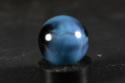 MINT 5/8 Vitro Reverse Blackie Marble BLUE HTF