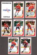 1989-90 Panini Stickers Complete Team Set Washington Capitals