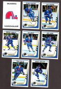 1989-90 Panini Stickers Complete Team Set Quebec Nordiques