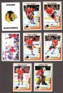 1989-90 Panini Stickers Complete Team Set Chicago Blackhawks