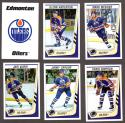1989-90 Panini Stickers Complete Team Set Edmonton Oilers