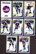 1989-90 Panini Stickers Complete Team Set Winnipeg Jets