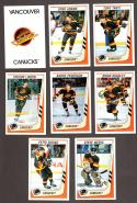 1989-90 Panini Stickers Complete Team Set Vancouver Canucks