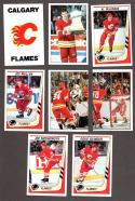 1989-90 Panini Stickers Complete Team Set Calgary Flames