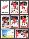 1989-90 Panini Stickers Complete Team Set Detroit Red Wings