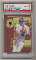 1996 Playoff Leatherbound Gold #2 John Elway PSA 8 None Higher SP /500