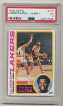 1978-79 Topps #110 Kareem Abdul-Jabbar PSA 5 EX Los Angeles Lakers