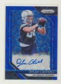 2018 Panini Prizm Rookie Autographs Prizm Blue Scope #84 Dylan Cantrell MINT Auto /99 Los Angeles Chargers