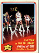 1972-73 Topps #254 Willie Wise AS Utah Stars