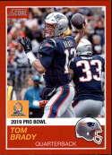2018 Panini Instant NFL Pro Bowl 1989 Score Design #1 Tom Brady New England Patriots