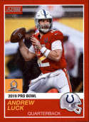 2018 Panini Instant NFL Pro Bowl 1989 Score Design #4 Andrew Luck Indianapolis Colts