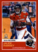2018 Panini Instant NFL Pro Bowl 1989 Score Design #14 Jalen Ramsey Jacksonville Jaguars