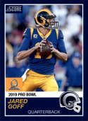 2018 Panini Instant NFL Pro Bowl 1989 Score Design #18 Jared Goff Los Angeles Rams