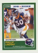 2018 Panini Instant NFL Pro Bowl 1989 Score Design #6 Phillip Lindsay RC Rookie Denver Broncos