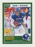 2018 Panini Instant NFL Pro Bowl 1989 Score Design #21 Saquon Barkley RC Rookie New York Giants