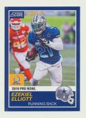 2018 Panini Instant NFL Pro Bowl 1989 Score Design #22 Ezekiel Elliott Dallas Cowboys
