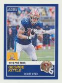 2018 Panini Instant NFL Pro Bowl 1989 Score Design #25 George Kittle San Francisco 49ers
