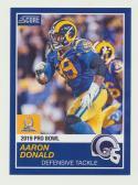 2018 Panini Instant NFL Pro Bowl 1989 Score Design #27 Aaron Donald Los Angeles Rams