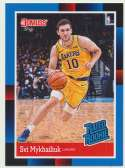 2018-19 Panini Instant NBA 1988 Rated Rookie Retro #RR39 Svi Mykhailiuk RC Rookie Los Angeles Lakers