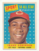 1958 Topps #484 Frank Robinson AS EX++ Excellent++ Cincinnati Reds