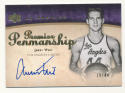 2007-08 Upper Deck Premier Penmanship Autographs Gold #WE Jerry West MINT Auto 19/44 Los Angeles Lakers