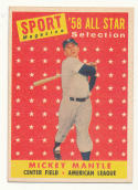 1958 Topps #487 Mickey Mantle AS TP EX/NM New York Yankees