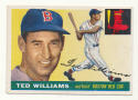 1955 Topps #2 Ted Williams VG Very Good Boston Red Sox