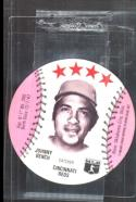 1977 Wendy's Disc Johnny Bench Cincinnati Reds NM/MT